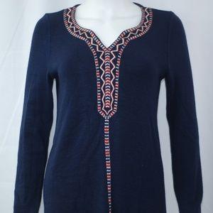 NEW Navy Stripes Sweater Mini Dress Sz XS